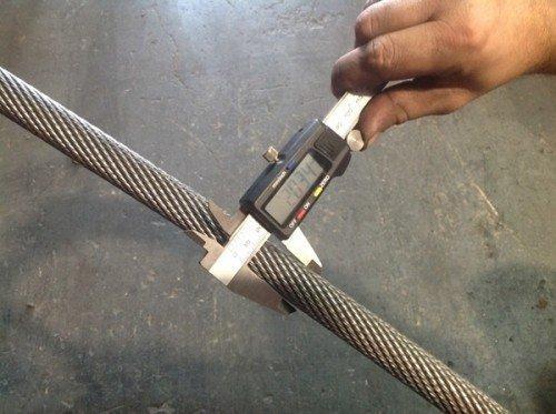 INspeção em cabos de aço