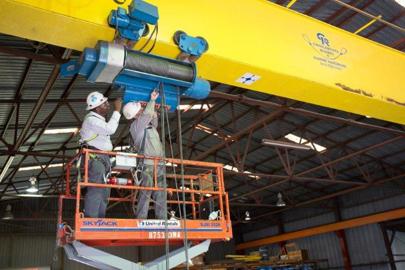 inspeção visual em cabos de aço